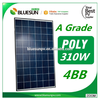 BlueSun 4BB 310watt pv poly solar panel good price solar panel 310w for Japanese market