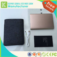 private label 2015 New Stype Metal Case slim power bank 20000mah for macbook pro /ipad mini
