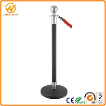 "Crowd Control Stanchion Queue Barrier Post 60"" Red Velvet Rope"