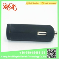 Quick Charge 2.0 cigarette lighter car battery charger/ light up car charger usb/dual usb port