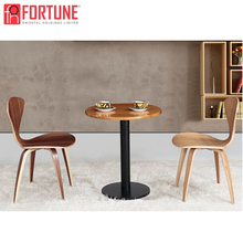 New cafe restaurant furniture design small round table and chair