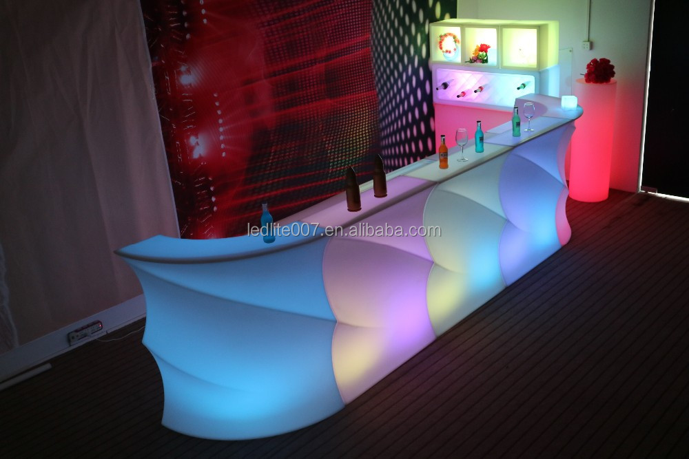 Mordern Restaurant multi color wireless control led wedding table