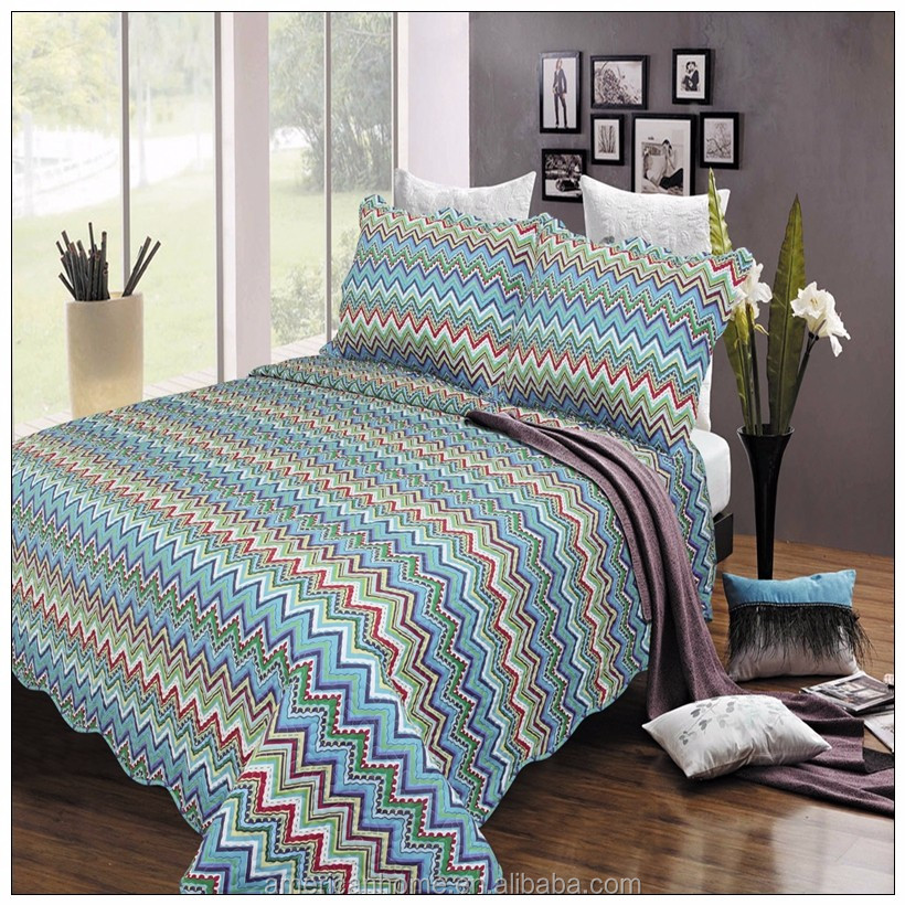 China Thick Polyester Bed Sheet Patchwork Quilt