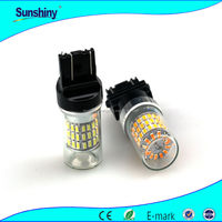 Supplier 60 smd 3528 white yellow red dual color 3157 switchback led auto light