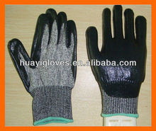 Cut Resistant Safety Gloves with Nitrile Palm Coated HYZ24