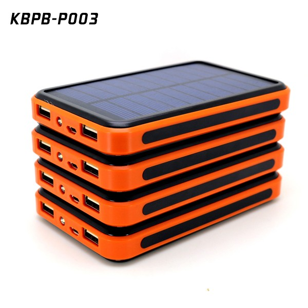 Wholesale 20000mAh li-polymer battery power bank with solar panel