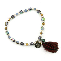 Feather Germanium Crystal Brazilian Jewelry Beads