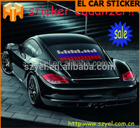 90*25cm Sound Activated Equalizer El Car Stickers With Rolled Up Package