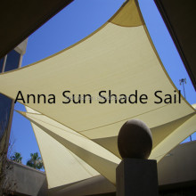 160g/m2 3x3 M/PCS Waterproof Square Sun Shade Sail with PU coated