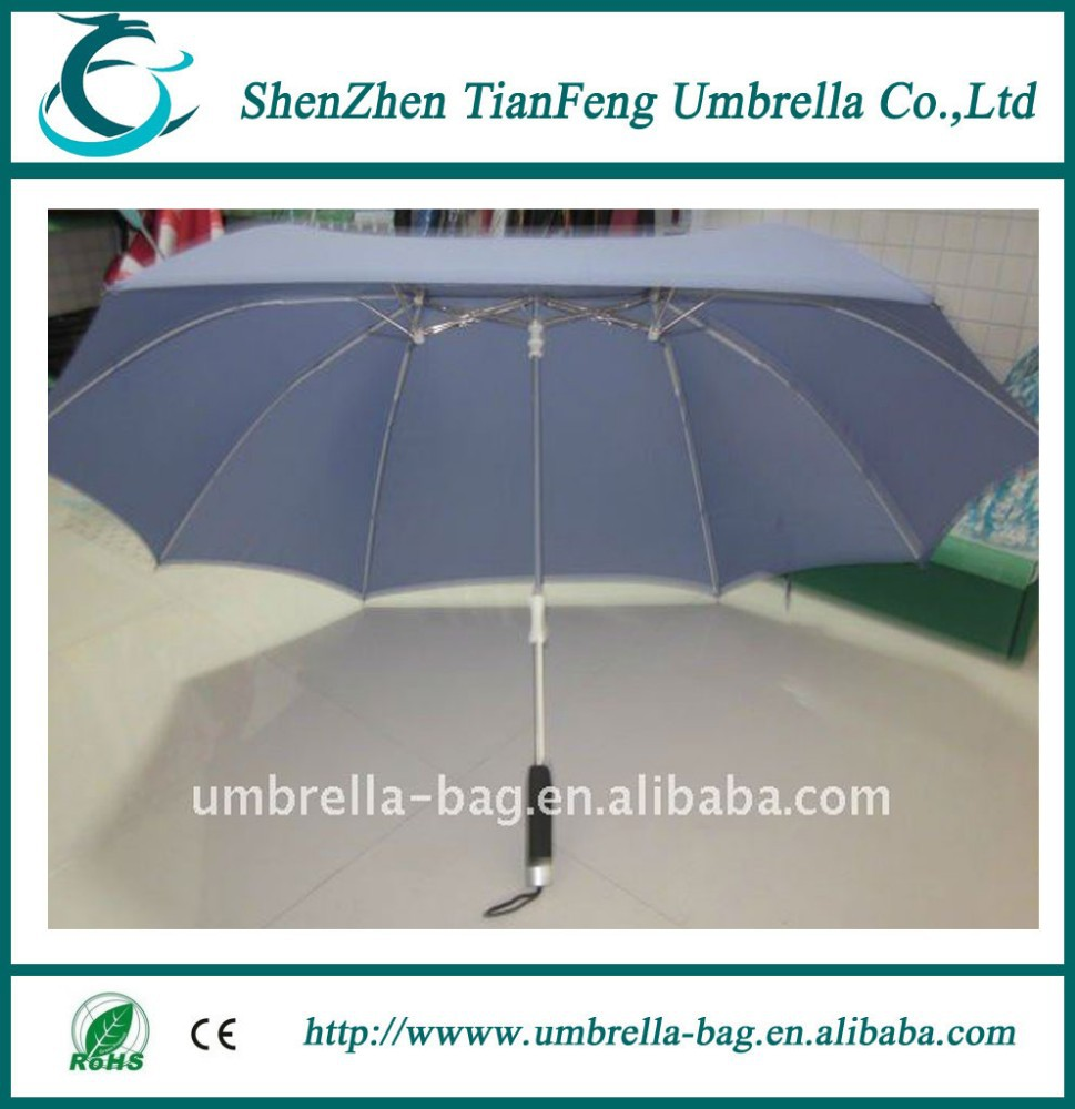 black plastic handle lovers umbrella with blue umbrella cover for sale