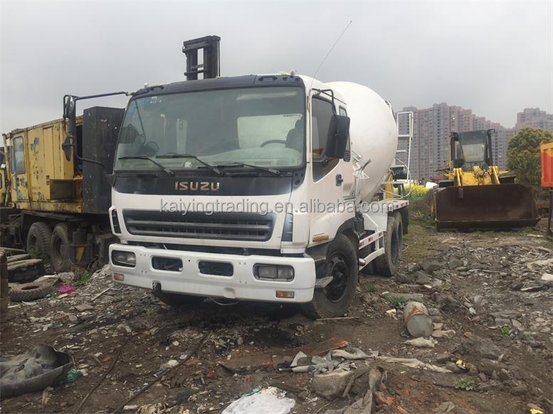 concrete mixer 8 Cubic meters Japan ISUZU original mixer truck