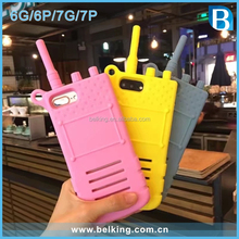 Newest Walkie - talkie Design Silicon Phone Case For iPhone 7 7plus Mobile Phone Accessories