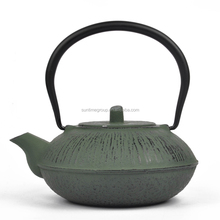 1L classic big cast iron enamel metal teapot with SS infuser for sale