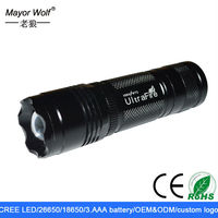 high power cree xm l2 adjustable beam rechargeable led flashlight and torches
