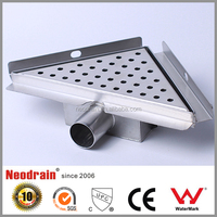 Customized shower drain grate , drain channel and grate