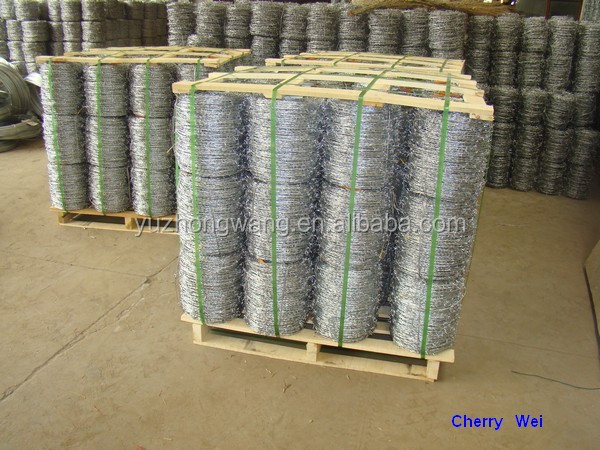 Galvanized barbed wire, IOWA, MOTTO, BWG14*14 BWG16*16 200m/250m/400m/500m for Brasil, Peru ( Anping factory )