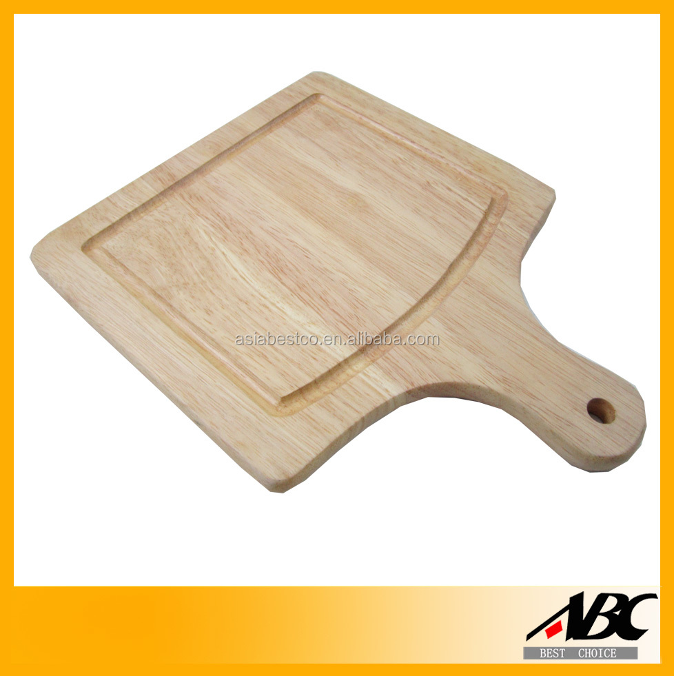 Food Safety Rubber Wood Kitchen Cutting Board