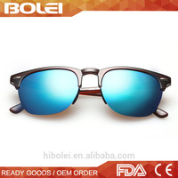 TR-90 Frame Wholesale Fashionable Polarized Clubmaster Sunglasses