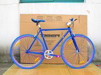 700C fixed gear bicycle racing bike colorful
