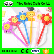 Promotion novelty items for sell yellow emoji ballpoint pen