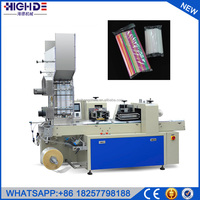 drinking plastic multiply 11mm Automatic mix color straw packing machine