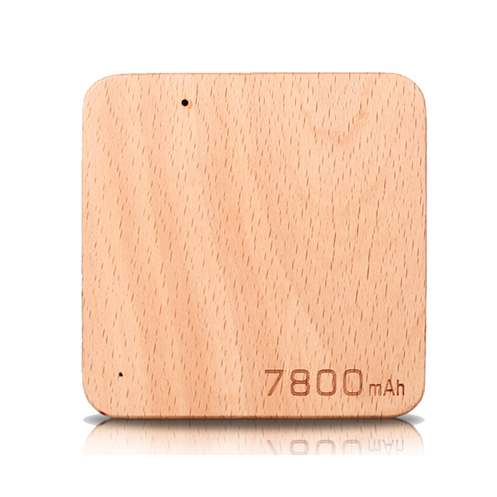 Shenzhen New Products Eco-friendly Wooden Portable Power Bank 7800mAh 8000mah 10000mah Power Banks with USB Chargers