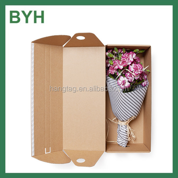 Zipper Kraft Corrugated Flowers Packaging Boxes for Shipping