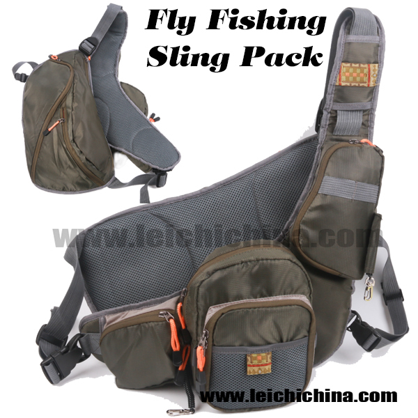In stock sling pack fly fishing vest buy sling pack for Fly fishing pack