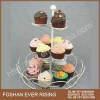 Wholesale Hot Sale Cheap Metal 3-Tier Cake Stand cupcake stand