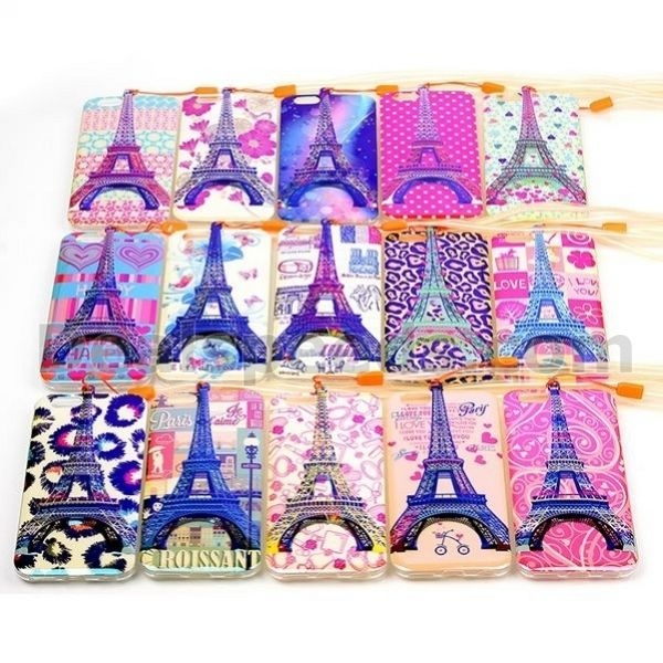 3D Eiffel Tower Blue-ray IMD Soft TPU Case for iPhone 6 Case Custom