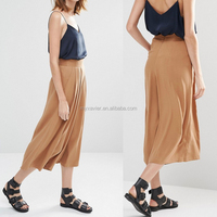 Wholesale fashion latest stylish new Soft Culotte Pants palazzo pants women wide leg hippie pants