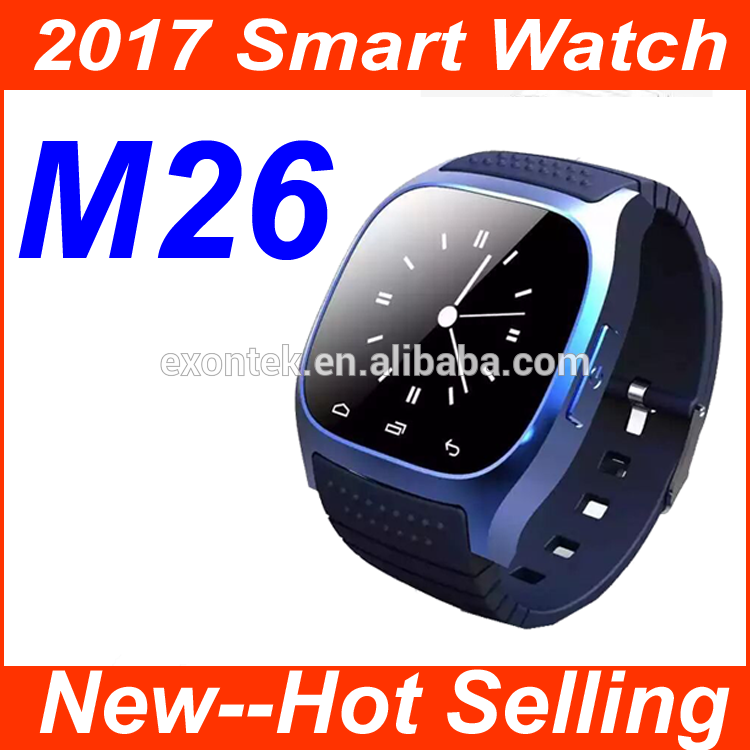 China Manufacturer wholesale 2017 Christmas' gift M26 smart watch cheap unlocked cell phone