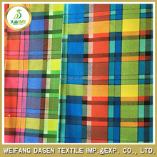 china fabric/textile manufacturer 100% cotton yarn dyed shirting fabric