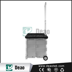 disabled shopping trolley/folding plastic trolley basket