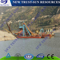 Gravity separator NTS bucket chain gold mining dredger /ship with factory price