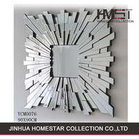 New coming china large contemporary 3d decorative wall mirror