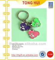 Colorful enamel bear charm novelty keychains/keyrings metal