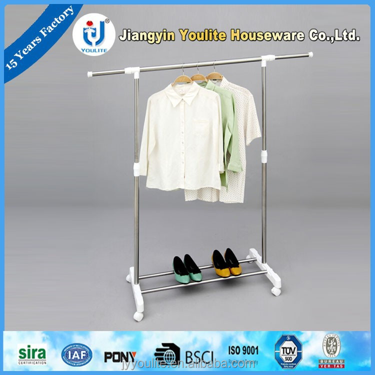 simple wuxi single pole telescopic clothes rack