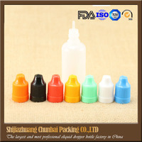plastic bottle 10ml pet electronic smoke oil bottle used for Refill Oil Liquid Various Flavours Smoke