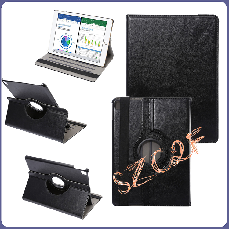 New 360 Degree Rotating Wallet Flip Design Rotatable Universal Leather Stand Case for iPad Air3