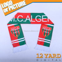 2015 Algiers logo printed sublimation soccer team sport scarf for fans