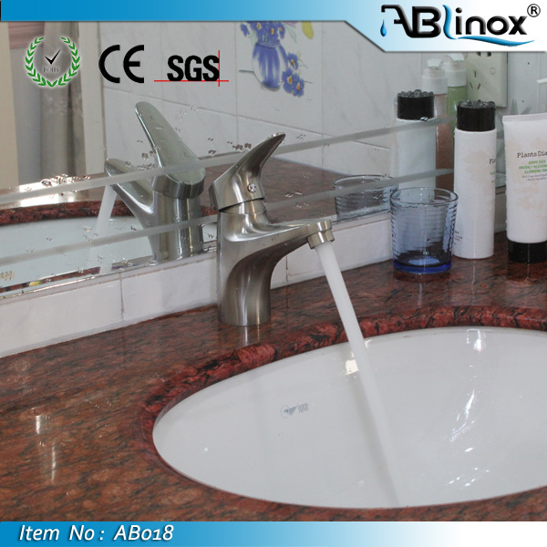 Stainless steel sensor lavatory faucet