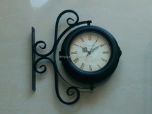 Fashion Design Antique Outdoor Double Side Hanging Clock