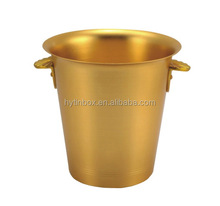 top quality gold color sanding finish aluminum ice bucket