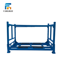 Customized warehouse metal foldable industrial storage stacking rack