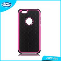 top selling slim armor shock absorber back cover case for iphone 6