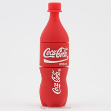 3D logo customized PVC bottle shape usb/ soft bottle usb with factory price
