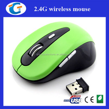 1600 DPI six button 2.4g wireless optical mouse for laptop computer