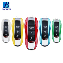 High quality colorful hard plastic car replacement remote key shell smart key case for Porsche macan panamera 911
