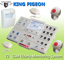 HOT!elderly home life monitoring devices T2,big keyboard mobile phone for elderly.